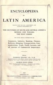 Cover of: Encyclopedia of Latin America | Marrion Wilcox