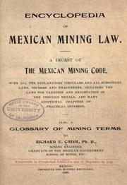 Cover of: Encyclopedia of Mexican mining law