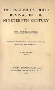 Cover of: English Catholic revival in the nineteenth century | Paul Marie Pierre Thureau-Dangin