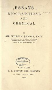 Essays biographical and chemical by Ramsay, William
