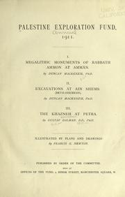 Cover of: The excavations at Ain Shems, 1911