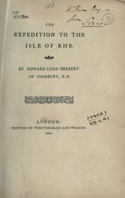 Cover of: The expedition to the isle of Rhe
