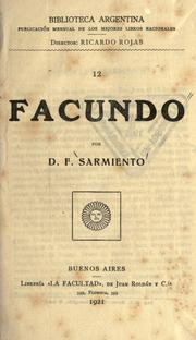 Cover of: Facundo