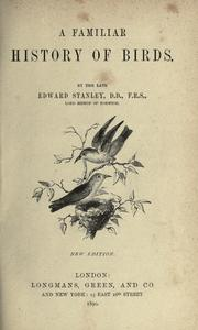 Cover of: A familiar history of birds