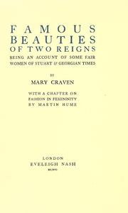 Cover of: Famous beauties of two reigns | Mary Craven