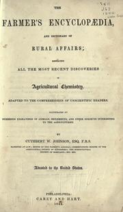 Cover of: The farmer's encyclopædia, and dictionary of rural affairs
