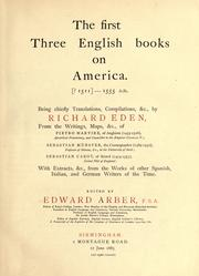 Cover of: The first three English books on America