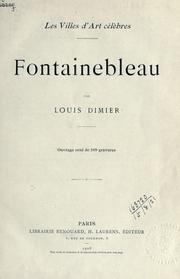 Cover of: Fontainebleau