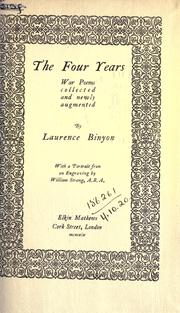 Cover of: The four years, war poems collected and newly augmented