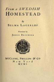 Cover of: From a Swedish homestead | Selma Lagerlöf