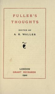 Cover of: Fuller's thoughts