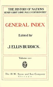 Cover of: General index [to The history of nations]