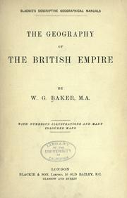 Cover of: The geography of the British empire
