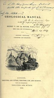 Cover of: A geological manual