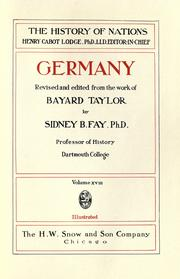 Cover of: Germany: revised and edited from the work of Bayard Taylor