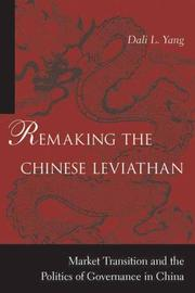 Cover of: Remaking the Chinese Leviathan