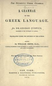Cover of: A grammar of the Greek language