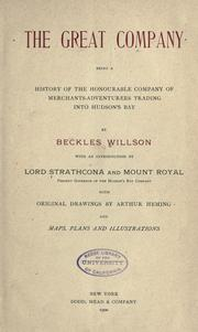 Cover of: Great company | Willson, Beckles