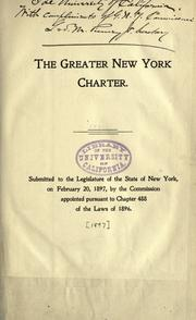 Cover of: The Greater New York charter