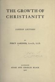 Cover of: The growth of Christianity