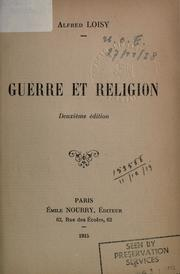 Cover of: Guerre et religion