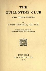 Cover of: The Guillotine Club, and other stories
