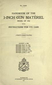 Cover of: Handbook of the 3-inch gun matériel, model of 1902 | United States. War Dept.