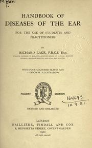 Cover of: Handbook of diseases of the ear | Richard Lake