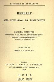 Cover of: Herbart and education by instruction. | Gabriel CompayrГ©