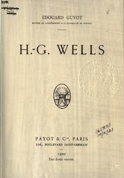 Cover of: H.G. Wells. | Édouard Guyot