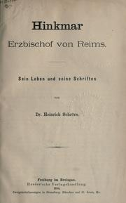 Cover of: Hinkmar, Erzbischof von Reims