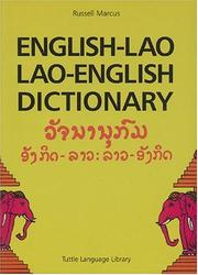 Cover of: English-Lao/Lao-English Dictionary (Revised Edition) | Russell Marcus