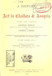Cover of: history of art in Chaldæa & Assyria | Georges Perrot