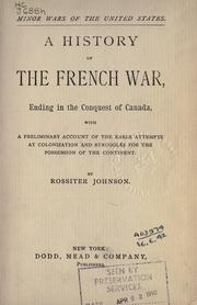 Cover of: A history of the French war