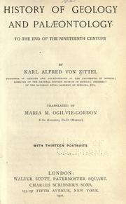 History of geology and palæontology to the end of the nineteenth century