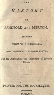 The history of Sandford and Merton by Thomas Day