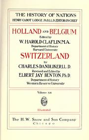 Cover of: Holland and Belgium | Thomas Colley Grattan