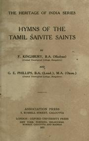 Cover of: Hymns of the Tamil Saivite saints