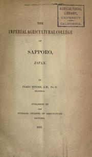 Cover of: The Imperial agricultural college of Sapporo, Japan