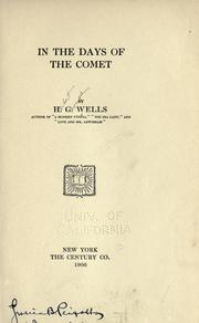 Cover of: In the days of the comet