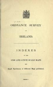 Cover of: Indexes to the 1/2500 and 6-inch scale maps and small specimens of different maps published