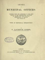 Cover of: Index of municipal offices