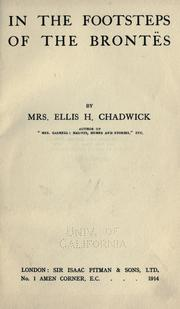 Cover of: In the footsteps of the Brontës. | Chadwick, Ellis H. Mrs.