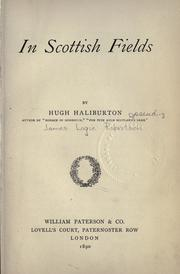 Cover of: In Scottish fields