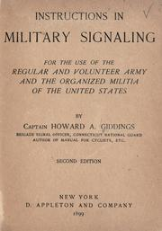 Cover of: Instructions in military signaling | Howard Andrus Giddings