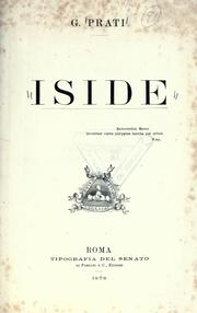 Cover of: Iside