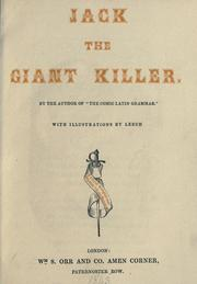 Cover of: Jack the giant killer by Leigh, Percival