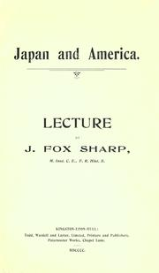 Cover of: Japan and America | J. Fox Sharp