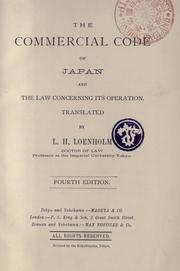 Cover of: commercial code of Japan and the law concerning its operation | Japan.