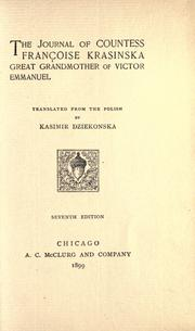 The journal of Countess Françoise Krasinska by Klementyna Hoffmanowa-Tańska